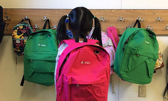 Image of we love seeing the kids using their new backpacks!